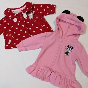 Disney Minnie Mouse 2 sweaters size 6 months.